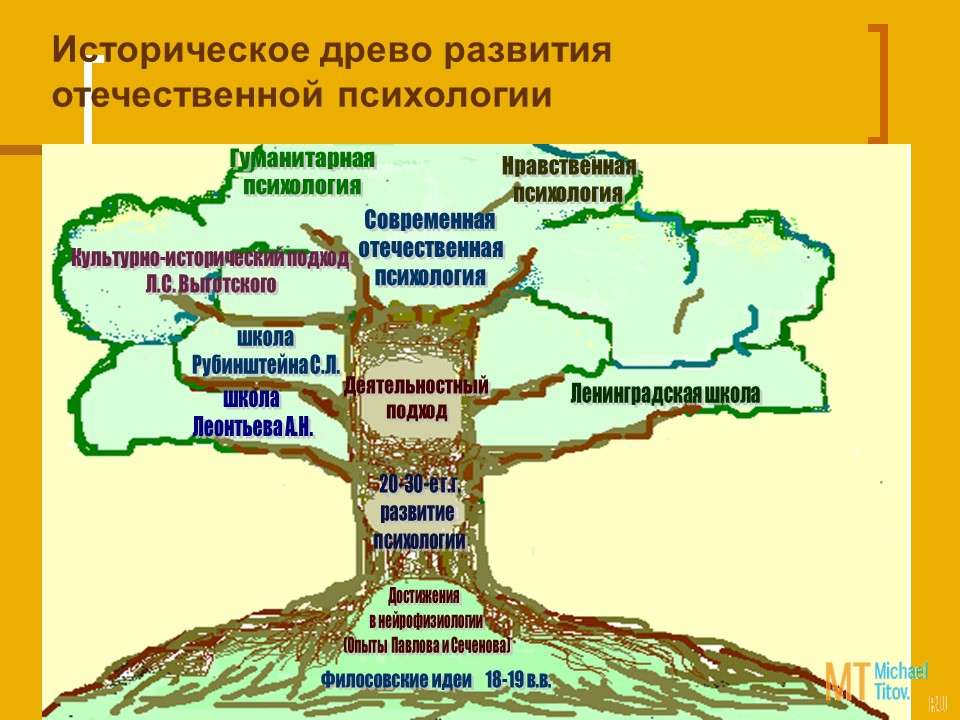 Историческое древо развития отечественной психологии