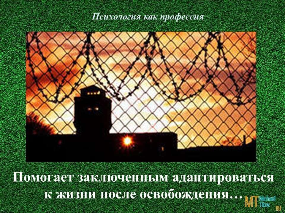 Психолог помогает заключенным адаптироваться к жизни после освобождения…