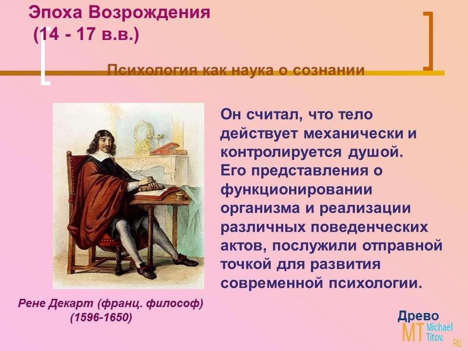 Эпоха Возрождения (14 - 17 в.в.)